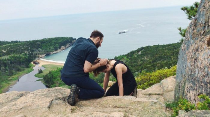 Nadia and Brian's Engagement in Acadia National Park, Maine