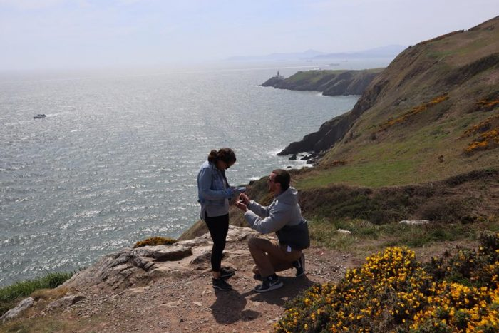 Chrysanne and Zachary's Engagement in Howth, Ireland