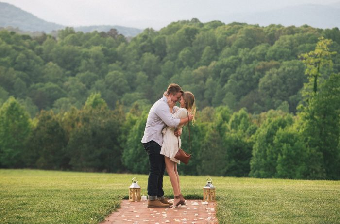 Where to Propose in At a wedding venue tour of Sierra Vista in Virginia.