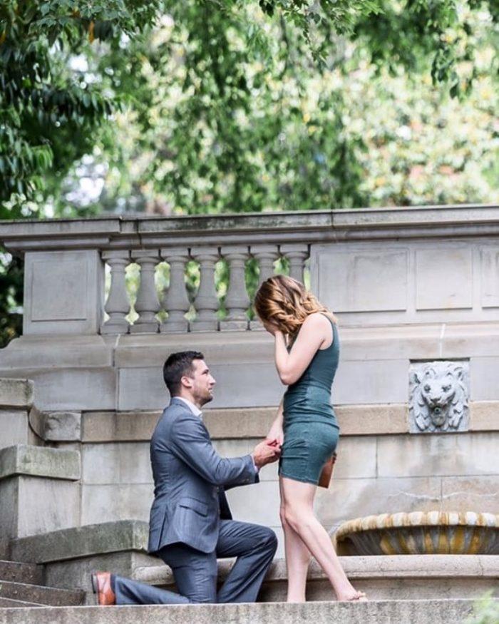 Stephanie's Proposal in Spanish Steps - Washington DC