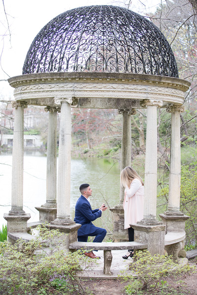 Marriage Proposal Ideas in Temple of Love at Old Westbury Gardens