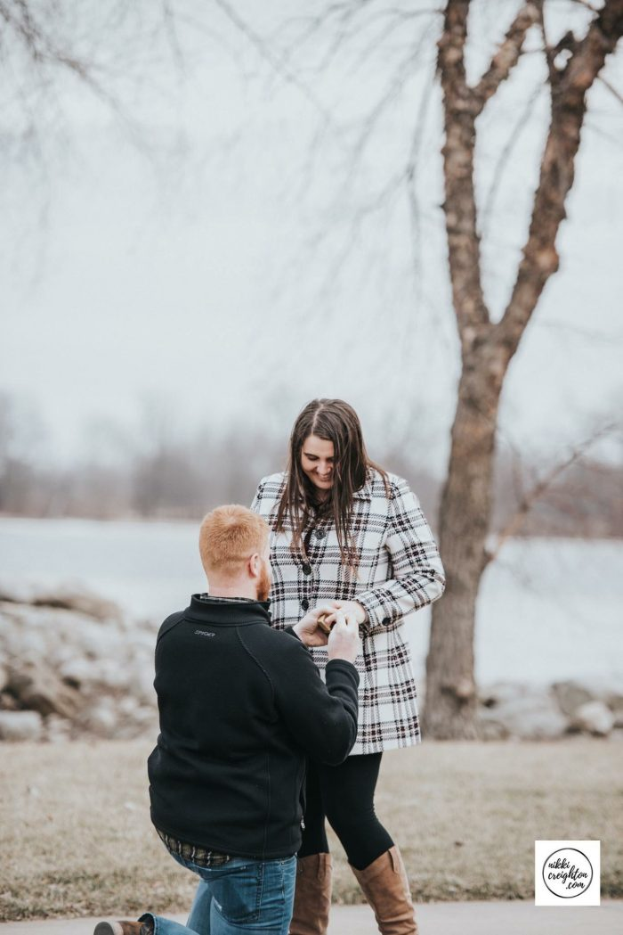 Carlie's Proposal in Our hometown- Burlington, IA