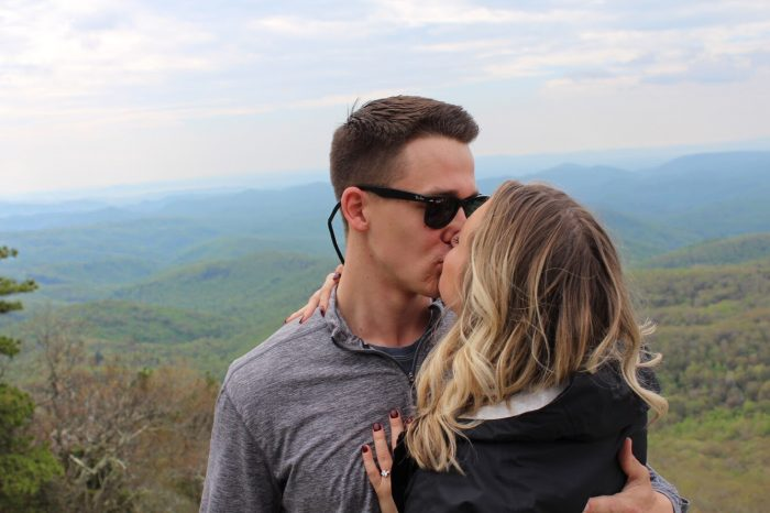 Where to Propose in On top of a mountain in Boone, North Carolina