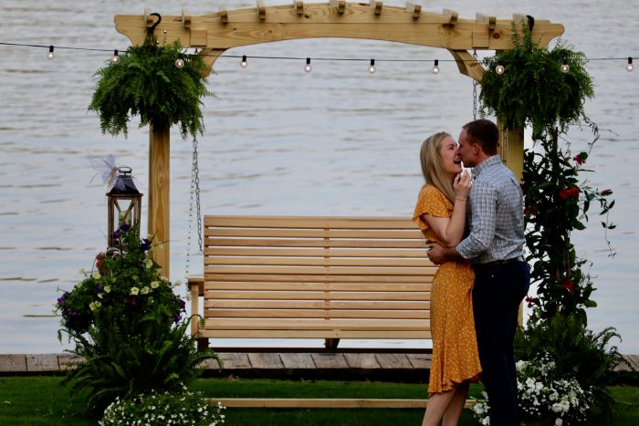 Where to Propose in His family lake house