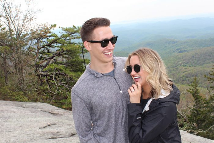 Proposal Ideas On top of a mountain in Boone, North Carolina