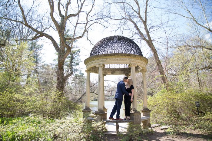 Jeff's Proposal in Temple of Love at Old Westbury Gardens