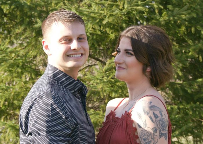 Sarah and Griffin's Engagement in At home
