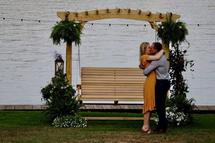Engagement Proposal Ideas in His family lake house