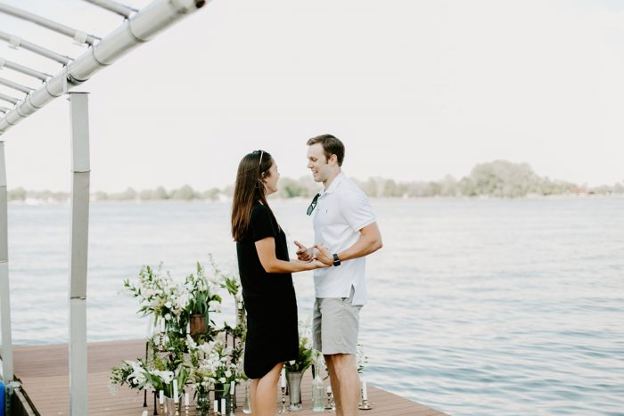 Hannah's Proposal in Morse Reservoir in Noblesville, Indiana