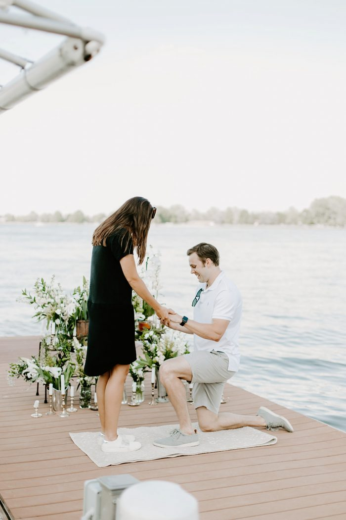 Engagement Proposal Ideas in Morse Reservoir in Noblesville, Indiana