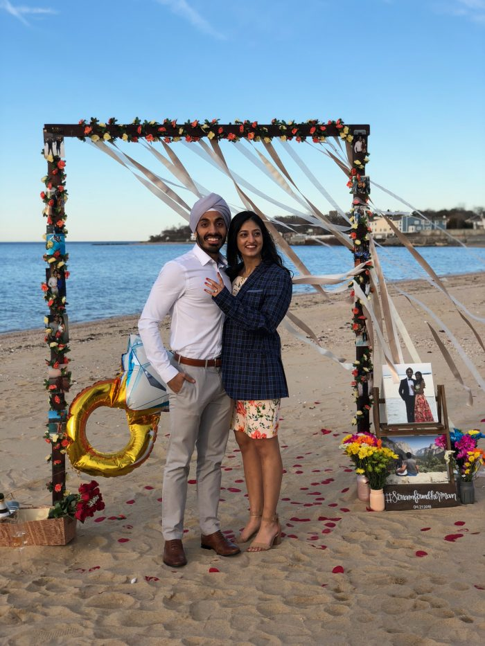 Sonam and Herman 's Engagement in Stehli Beach, New York