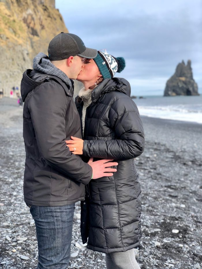Marriage Proposal Ideas in Black Sand Beach in Vik, Iceland