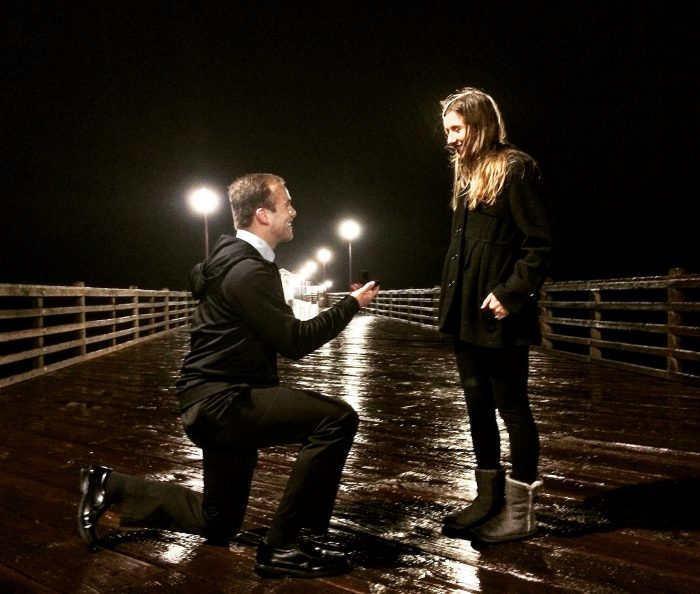 Naomi and Thomas's Engagement in Oceanside Pier