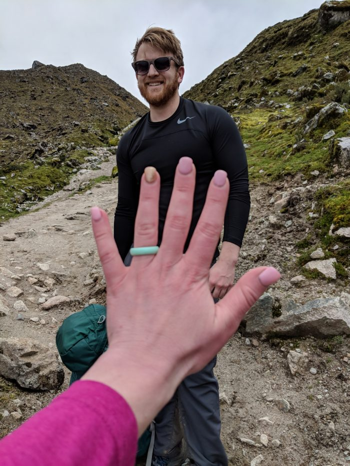 Rachel and Bradley's Engagement in Salkantay pass peru
