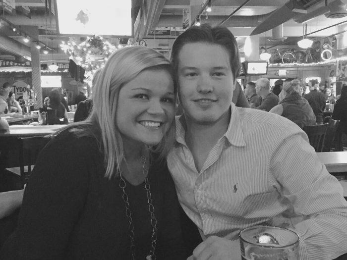Samantha and Eric's Engagement in Wolfies Bar and Grill