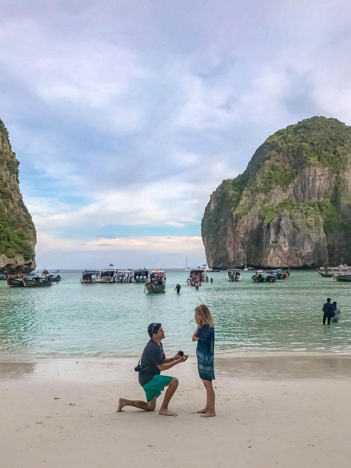 Marriage Proposal Ideas in Maya Bay, Thailand