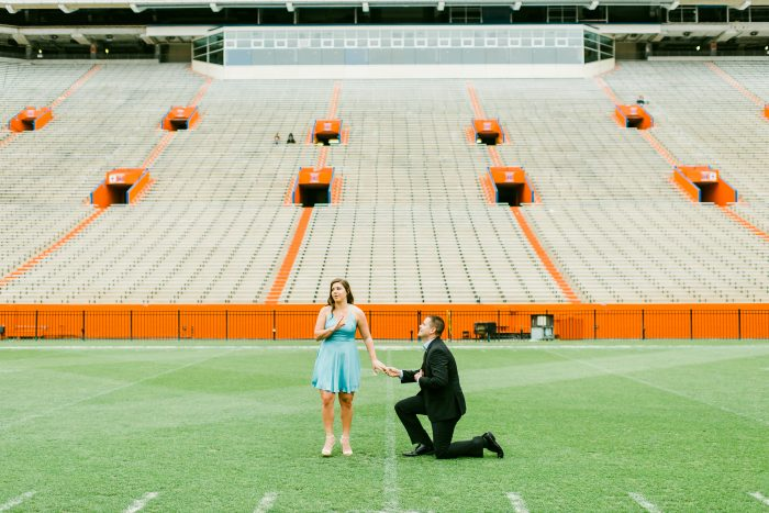 Carly's Proposal in Ben Hill Griffin Stadium at The University of Florida