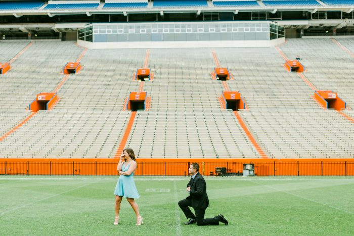 Engagement Proposal Ideas in Ben Hill Griffin Stadium at The University of Florida