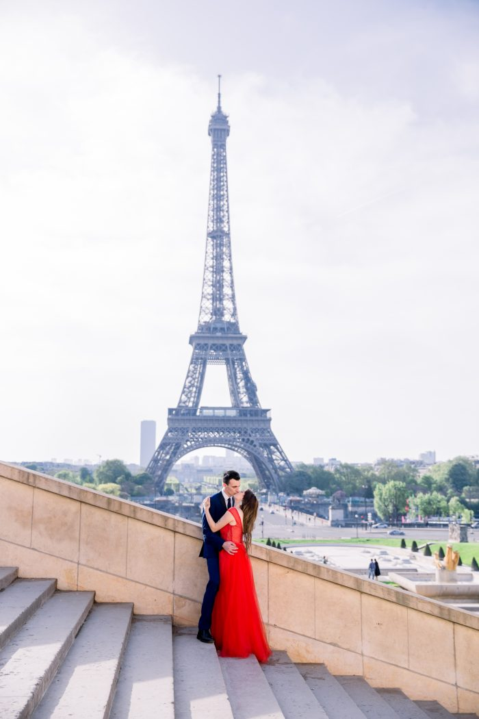 Veronica and Alessandro's Engagement in Paris, France
