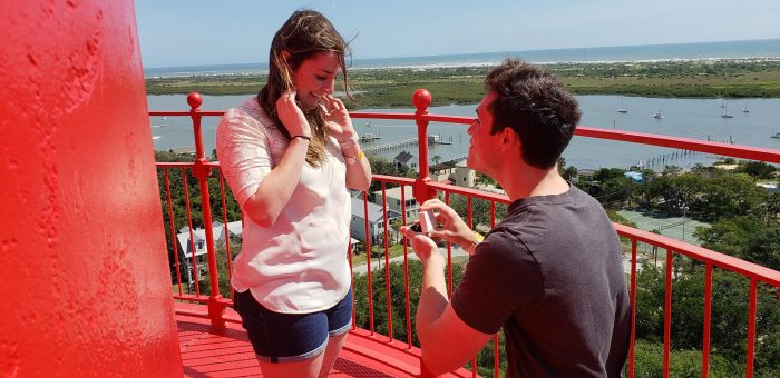 Wedding Proposal Ideas in St. Augustine, FL Lighthouse