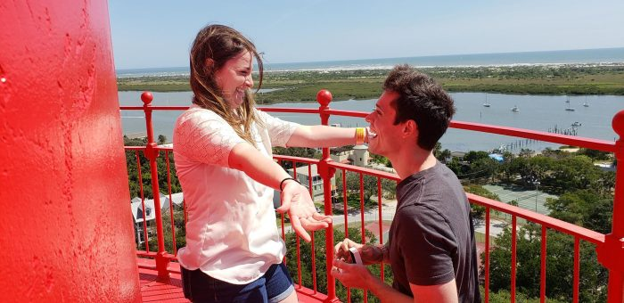 Pamela and Carl's Engagement in St. Augustine, FL Lighthouse