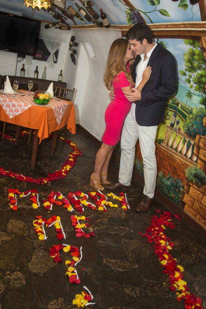 Marriage Proposal Ideas in Tratoria Piccolo Mondo, Guayaquil-Ecuador