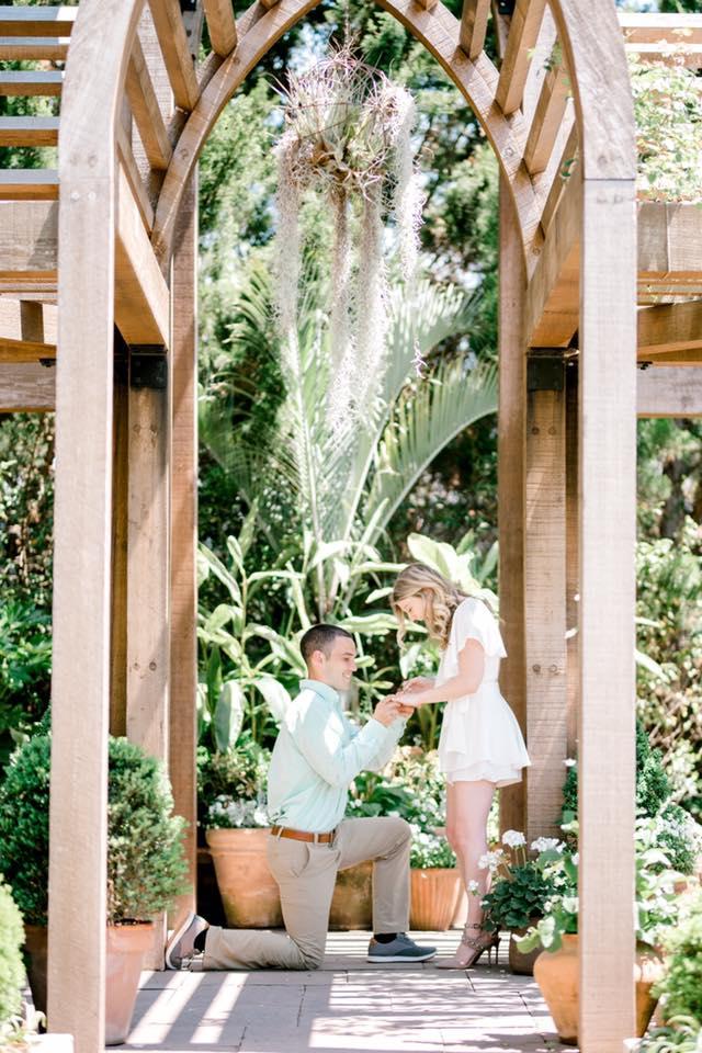 Marriage Proposal Ideas in Sarah P. Duke Gardens in Durham, North Carolina