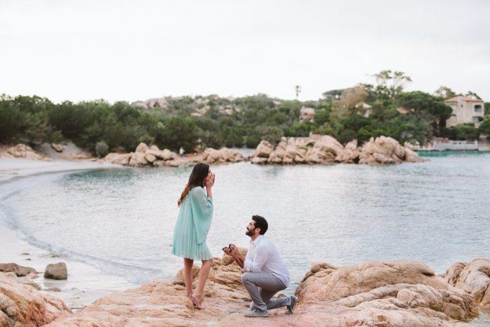 Engagement Proposal Ideas in Porto Cervo in Sardinia, a beautiful Italian island in the Mediterranean sea