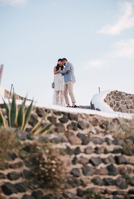 Dhara's Proposal in Venetsanos Winery, Santorini