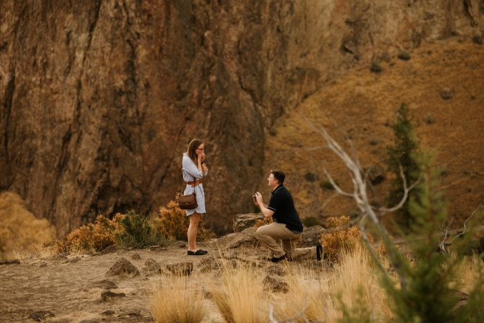 Wedding Proposal Ideas in Smith Rock State Park, Oregon