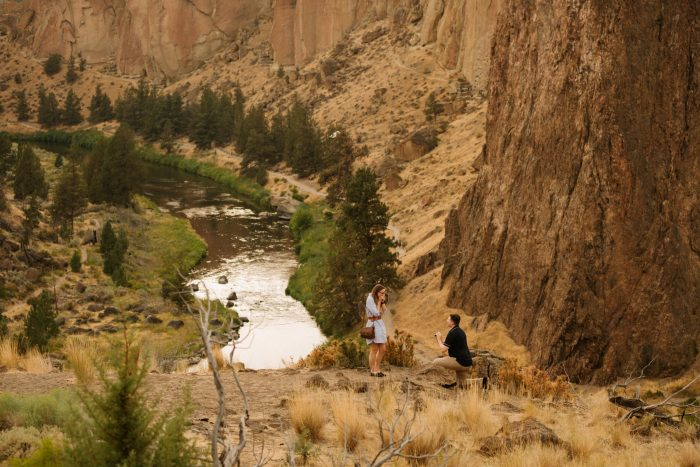 Yvette and Devon's Engagement in Smith Rock State Park, Oregon