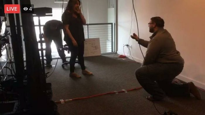 Erica and Sam's Engagement in At my company, PIXO VR