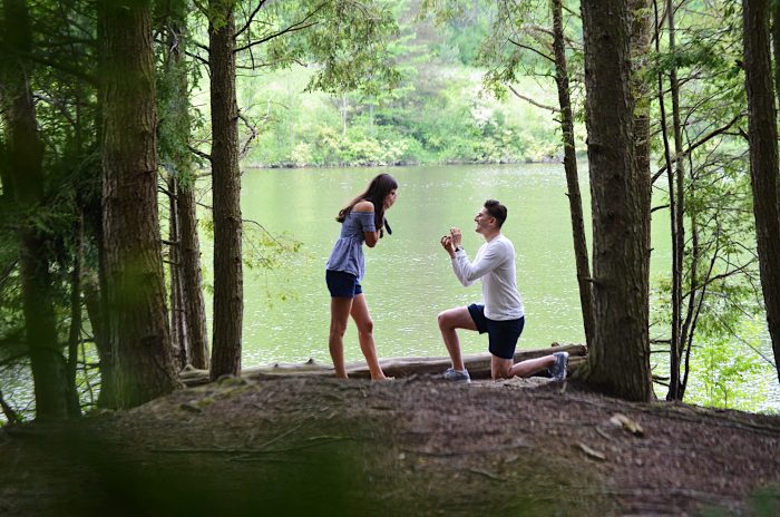 Ana and Stephen's Engagement in Lackawanna State Park