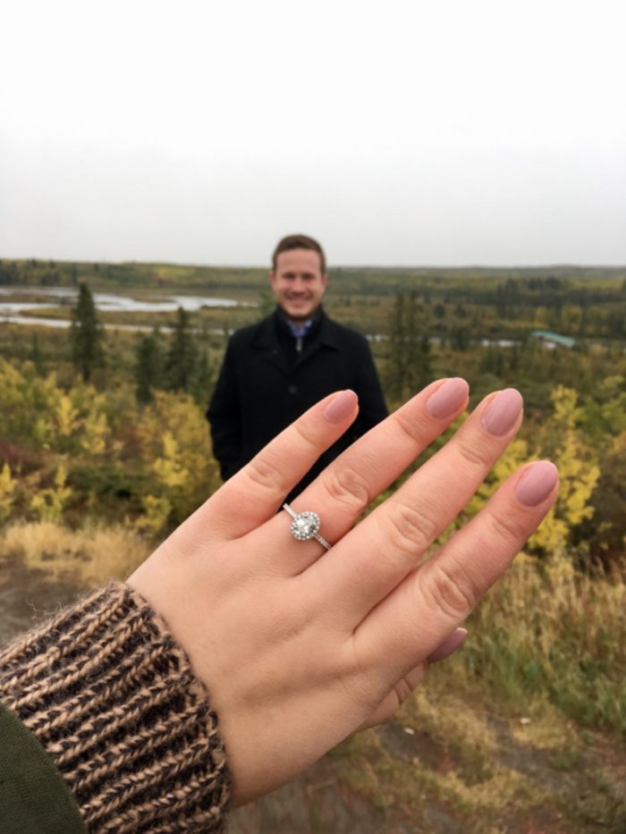 Brittany and Christopher's Engagement in North Glenmore Park in Calgary, AB