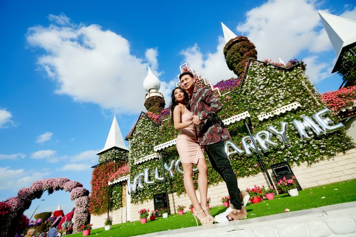 Samantha's Proposal in Dubai Miracle Garden
