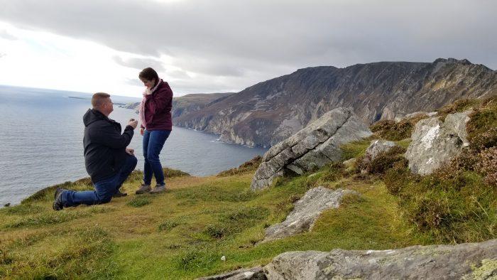 Erin's Proposal in Slieve League, Ireland