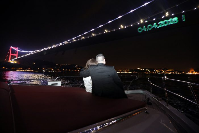 Engagement Proposal Ideas in On a yacht in Istanbul
