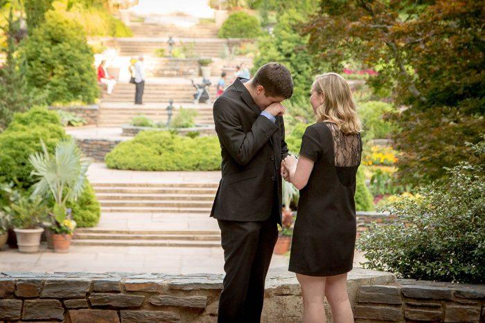 Wedding Proposal Ideas in Duke Gardens, Durham, N.C.