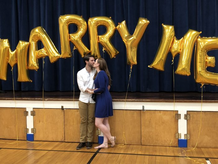 Where to Propose in Our elementary school gym