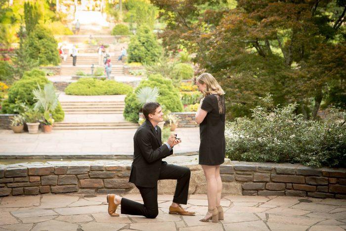 Christine's Proposal in Duke Gardens, Durham, N.C.