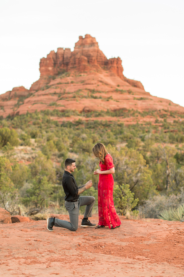 Where to Propose in In front of Bell Rock in Sedona Arizona