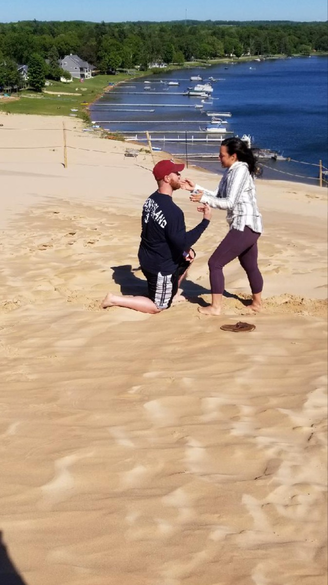 Marriage Proposal Ideas in Silver Lake Michigan