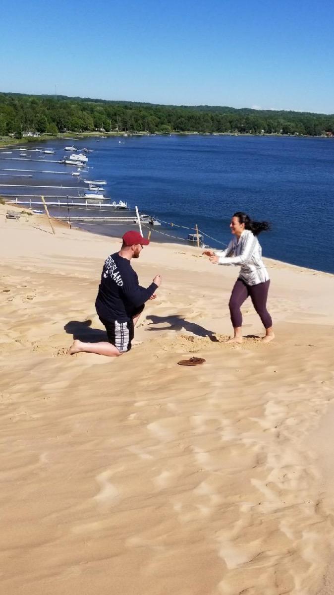 Naomi's Proposal in Silver Lake Michigan