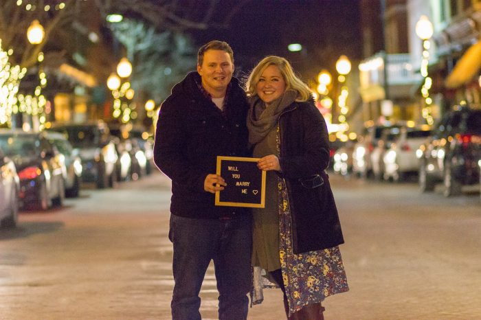 Engagement Proposal Ideas in Main Street St. Charles MO
