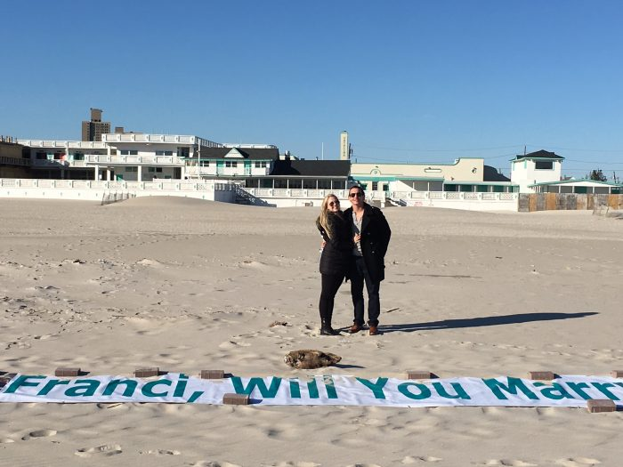 Marriage Proposal Ideas in In a helicopter over our private beach club