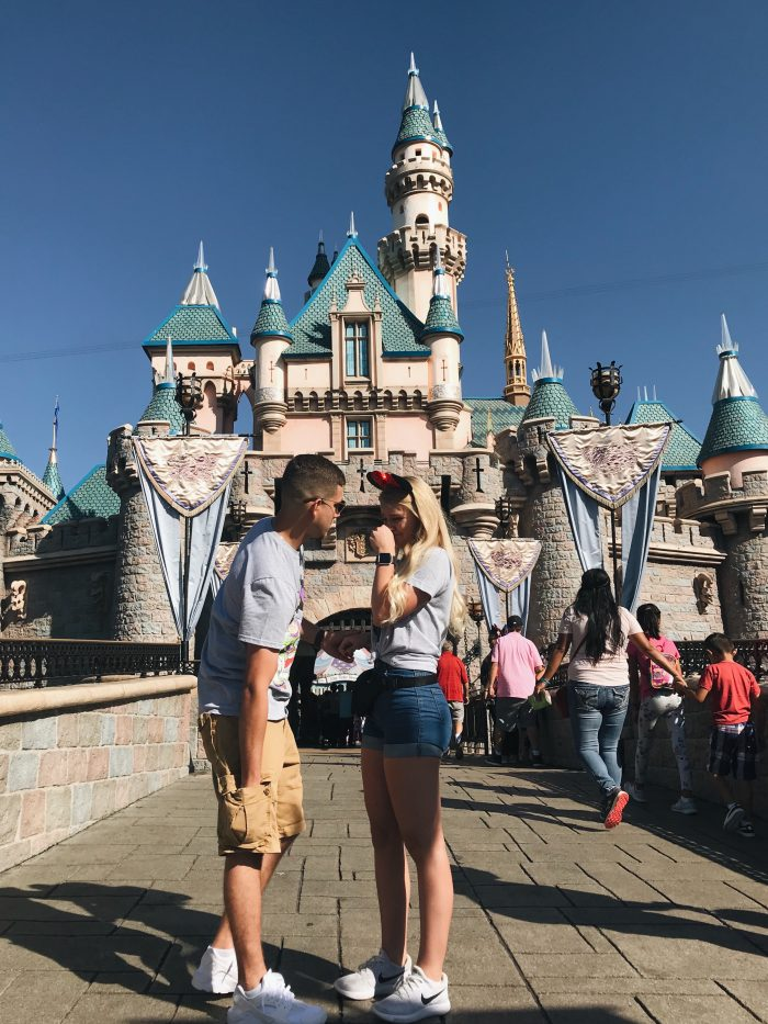 Courtney's Proposal in Disneyland California (Cinderella's Castle)