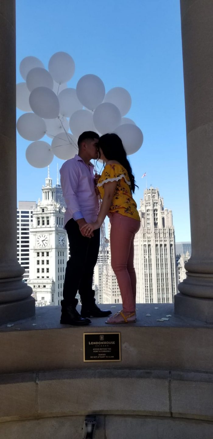 Engagement Proposal Ideas in London House Chicago Illinois