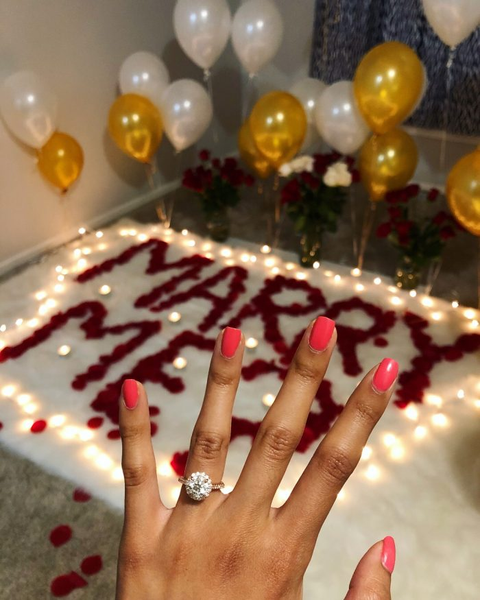 Carolyn's Proposal in Home