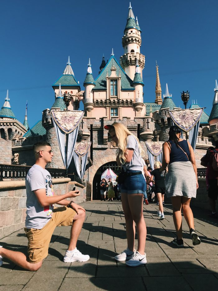 Engagement Proposal Ideas in Disneyland California (Cinderella's Castle)