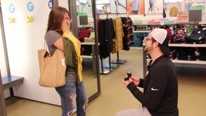Marriage Proposal Ideas in Old Navy Marlton